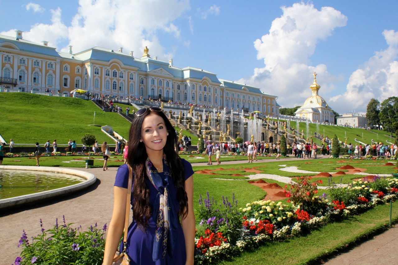 Brooke Saward at Peterhof