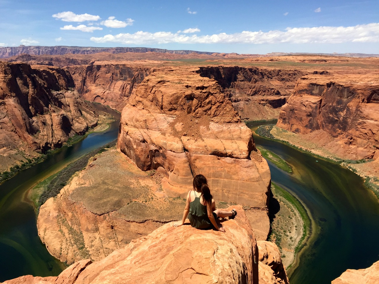 The Colorado River Flows Far Through Famous Horseshoe Bend In Page Arizona Mikel