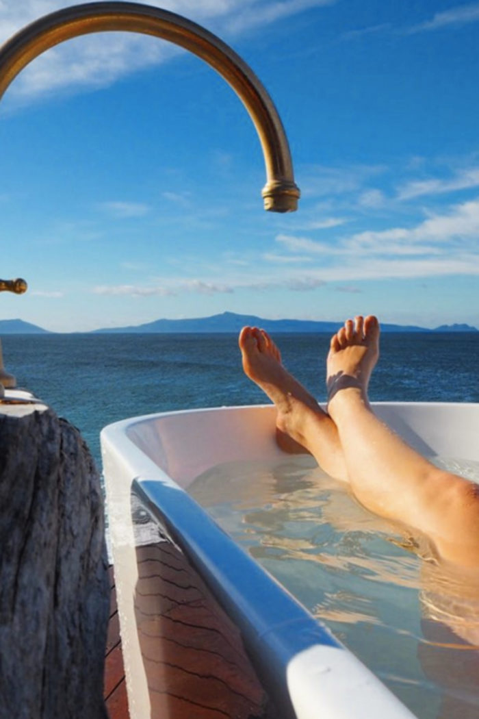 The World's Most Scenic Bathtub: Checking in to Thalia Haven on Tasmania's East Coast
