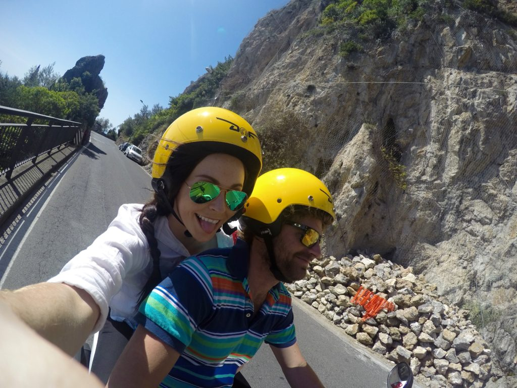 Renting a vespa Amalfi Coast