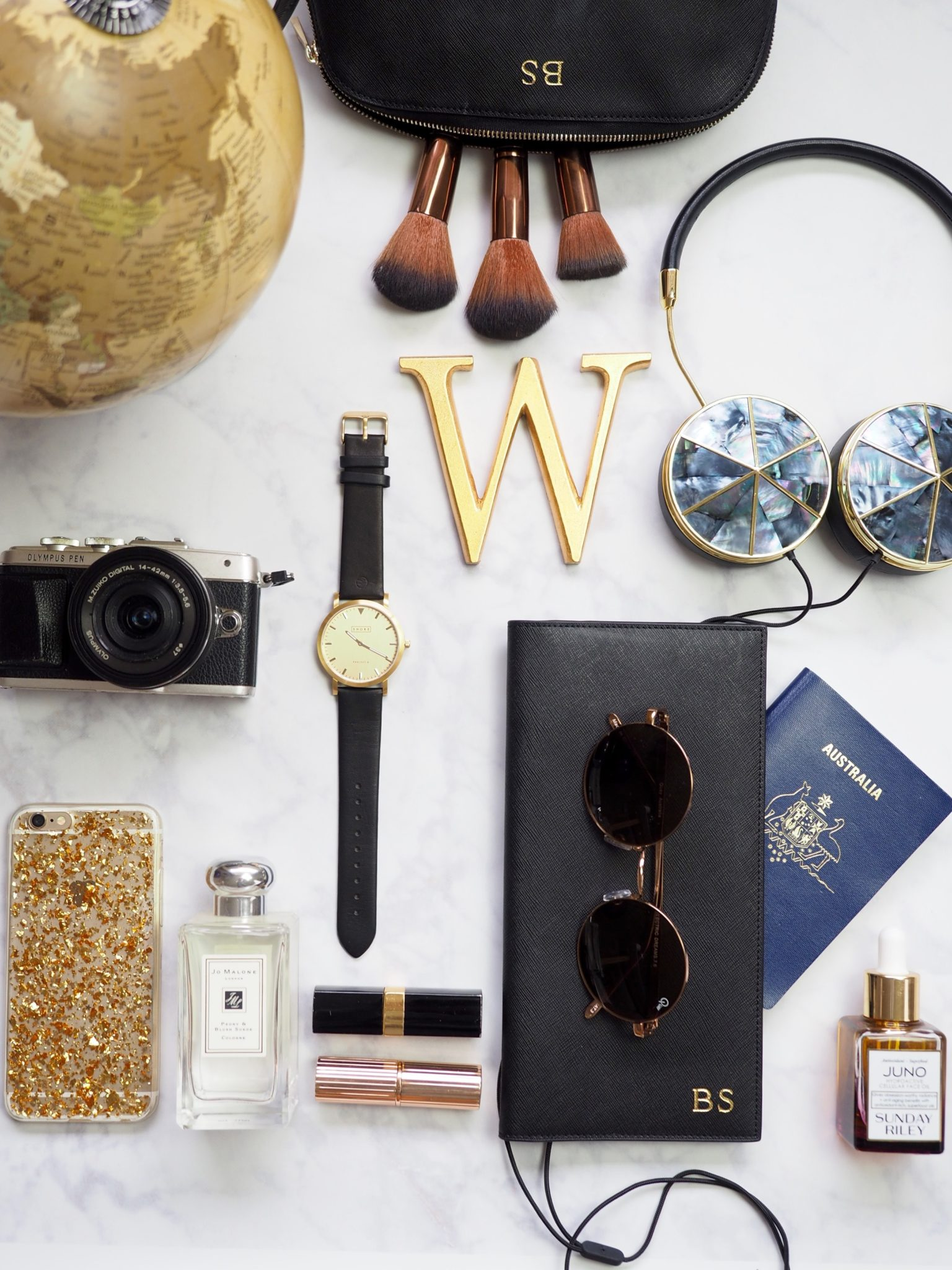 Style Files: Black & Gold Plane Essentials