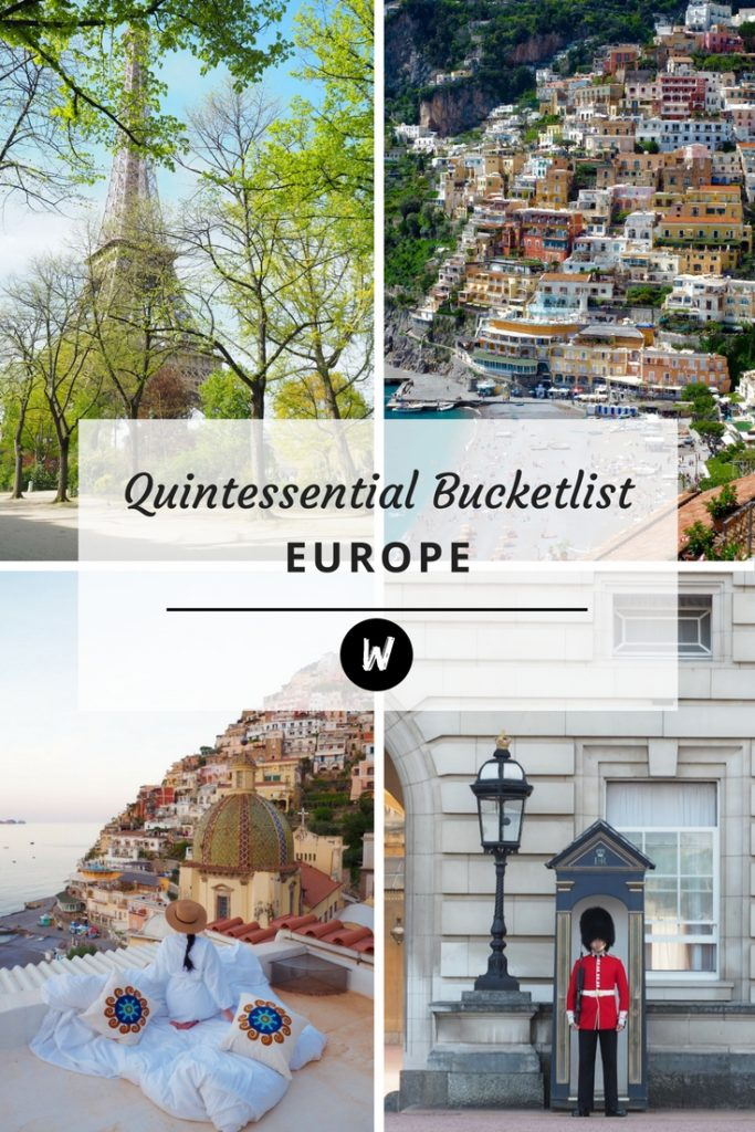 Quintessential Europe - The Big Bad Bucketlist