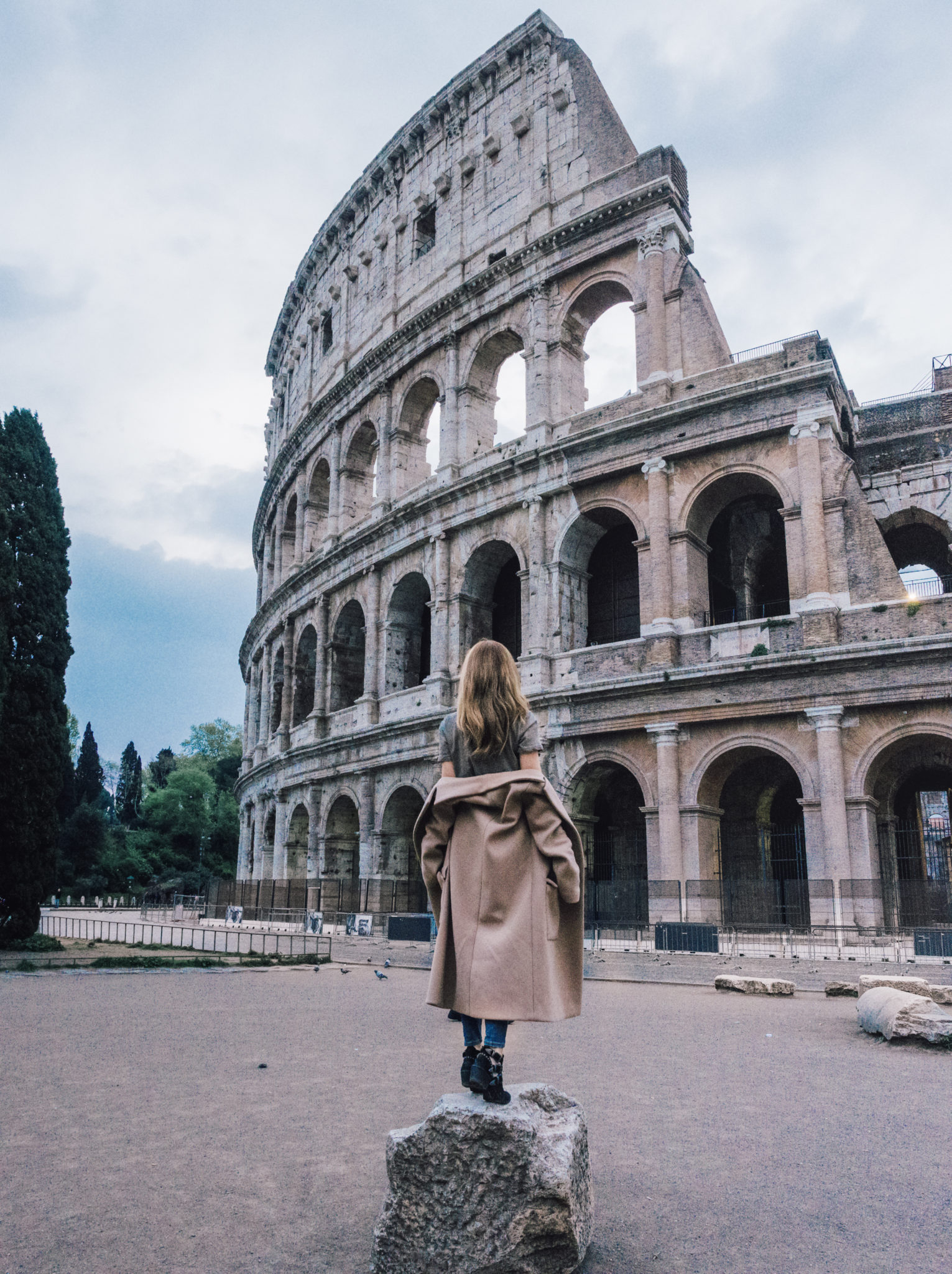 Brooke Saward in Rome